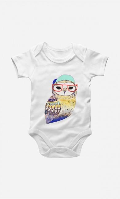 Bodysuit Hipster Owl