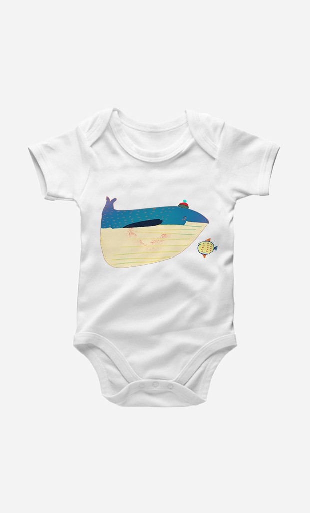 Bodysuit Whale And Fish