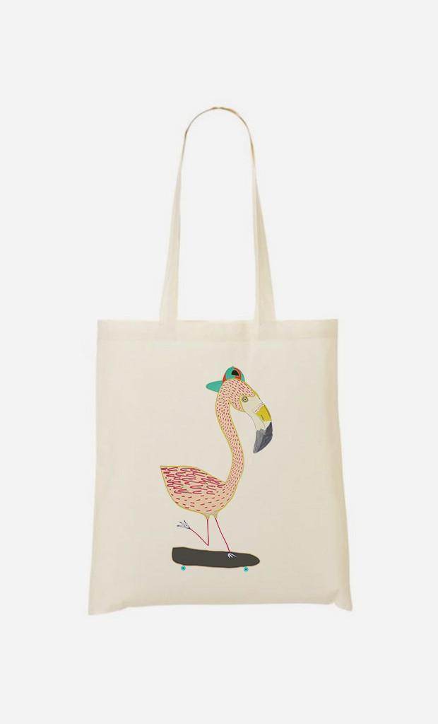 Tote Bag Flamingo Skater