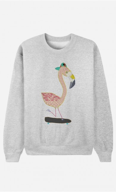 Sweatshirt Flamingo Skater