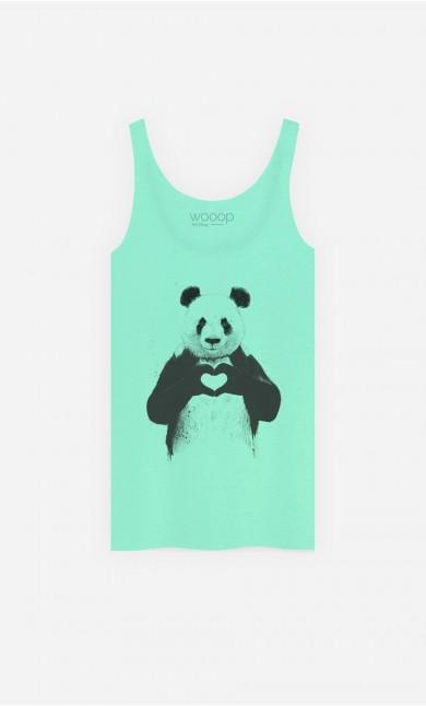 Tank Top Love Panda