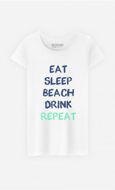 T-Shirt Eat Sleep Beach Drink Repeat