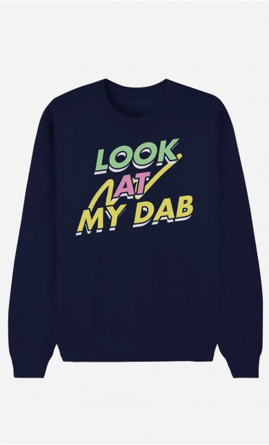 Blue Sweatshirt Look at My Dab