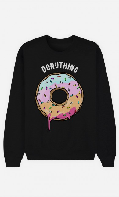 Black Sweatshirt Donuthing