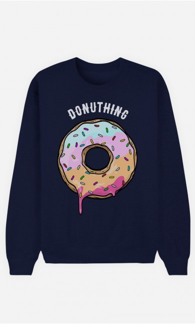 Blue Sweatshirt Donuthing