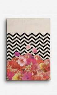 Canvas Chevron Flora II