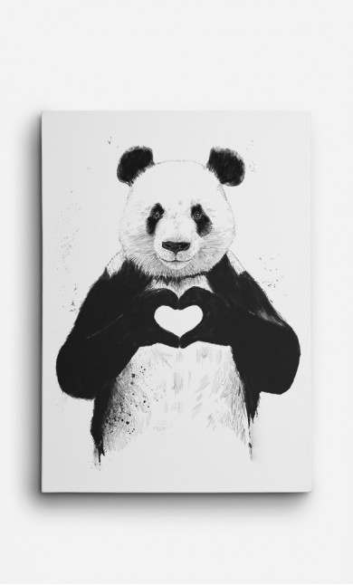 Canvas Love Panda