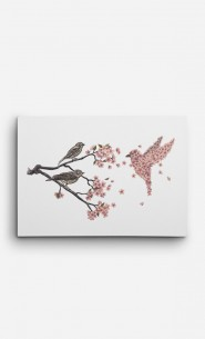 Canvas Blossom Bird
