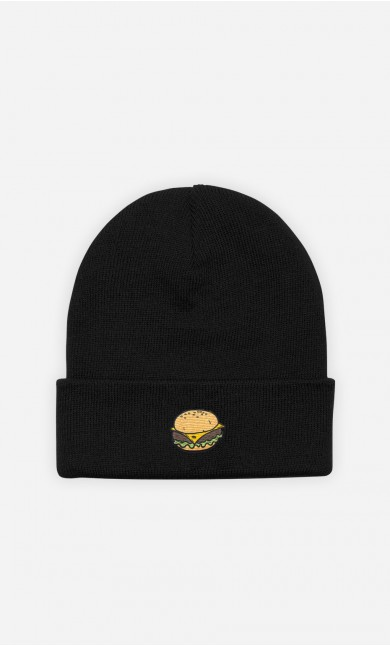Beanie Burger - embroidered