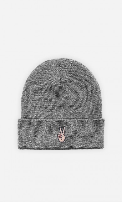 Beanie Peace - embroidered