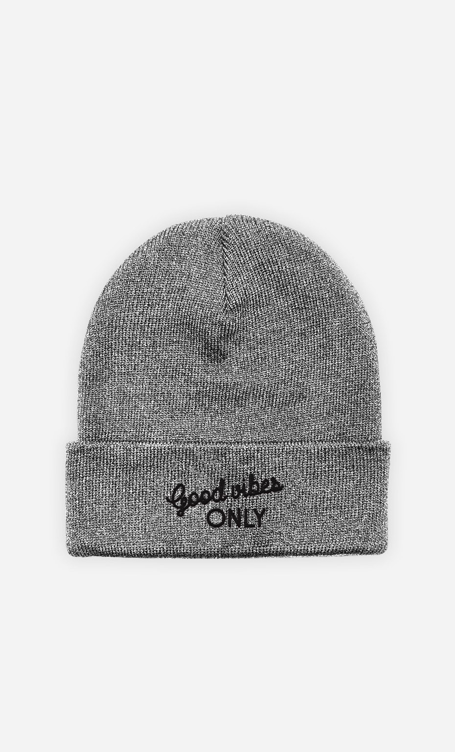 Beanie Good Vibes Only - embroidered
