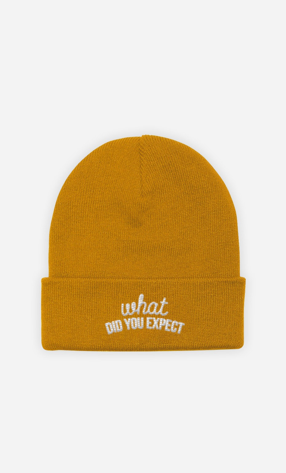 Beanie What did you Expect - embroidered