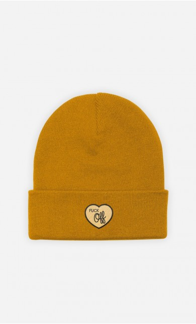 Beanie Fuck Off - embroidered