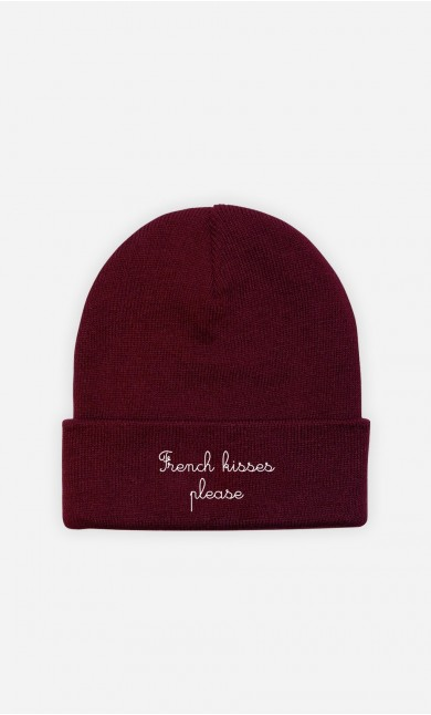 Beanie French Kisses Please - embroidered
