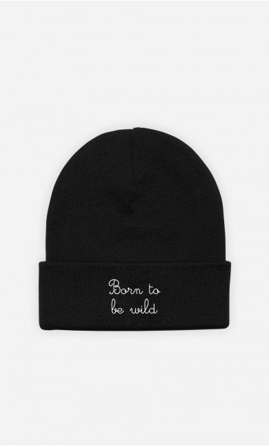 Beanie Born to be Wild - embroidered