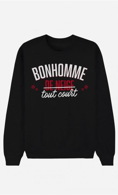 Sweat Noir Bonhomme de Neige Tout Court