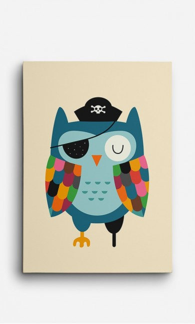 Canvas Captain Owl