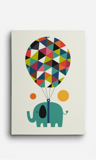 Canvas Flying Elephant