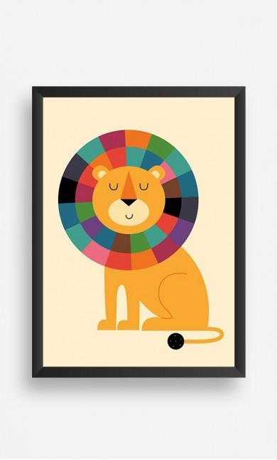 Frame Rainbow Lion