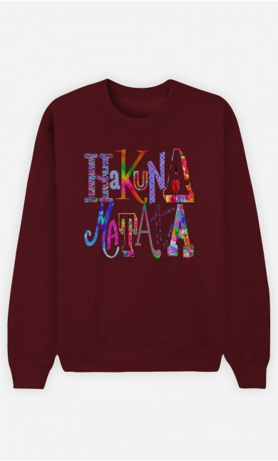 Sweat Bordeaux Hakuna Matata Color