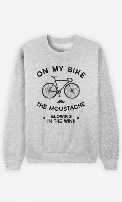 Sweatshirt The Moustache Blowing