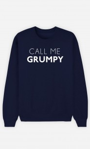 Blue Sweatshirt Call Me Grumpy
