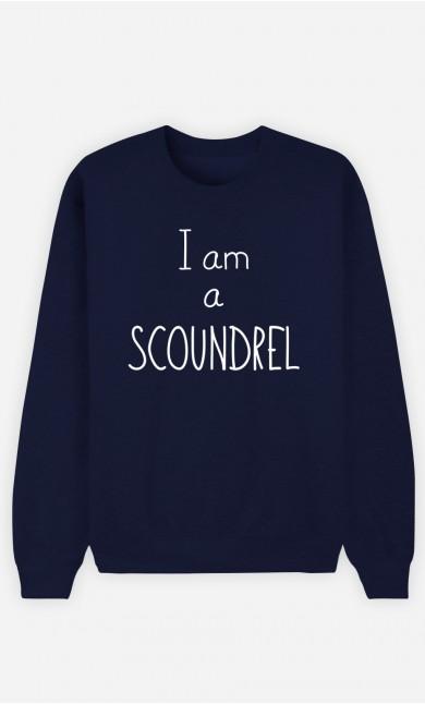 Blue Sweatshirt I'm a Scoundrel