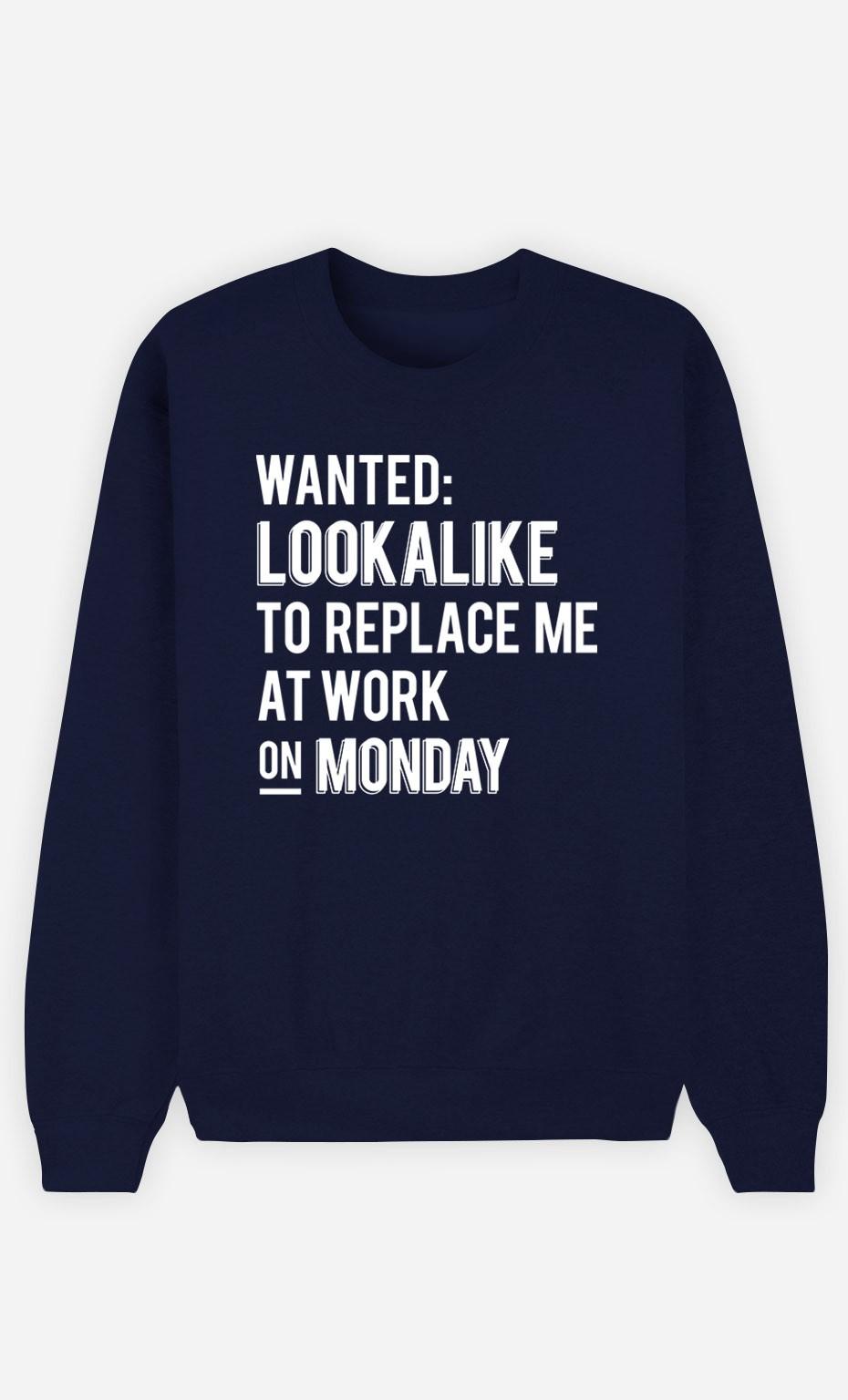Blue Sweatshirt Wanted Lookalike