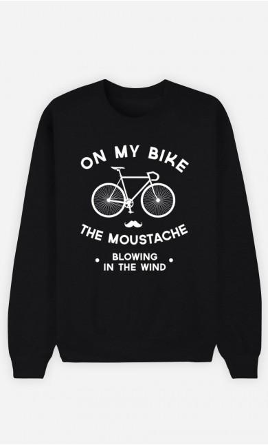 Black Sweatshirt The Moustache Blowing