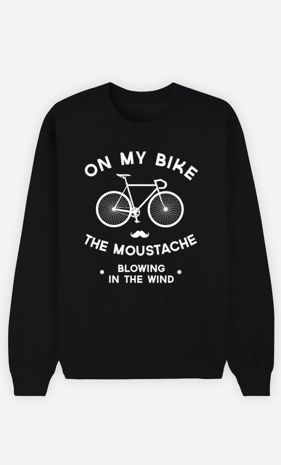 Black Sweatshirt The Moustache Blowing