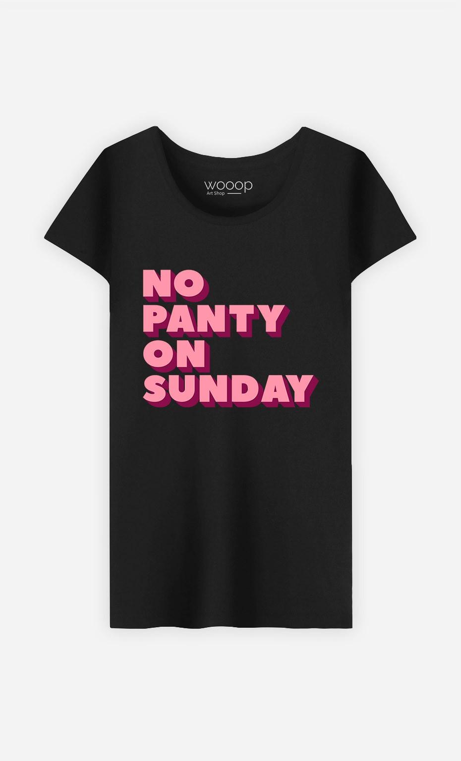 T-Shirt No Panty on Sunday