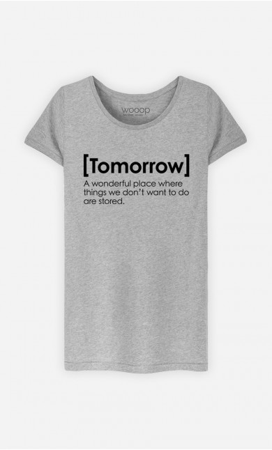 T-Shirt Tomorrow Definition