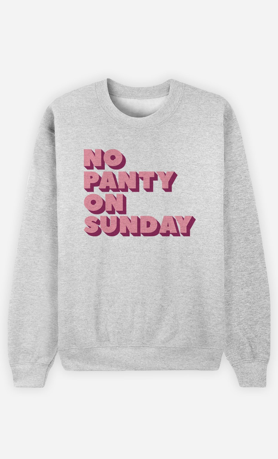 Sweatshirt No Panty on Sunday