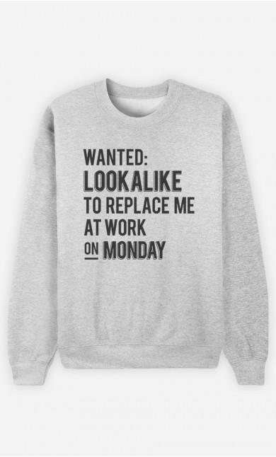 Sweatshirt Wanted Lookalike