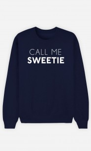 Blue Sweatshirt Call Me Sweetie