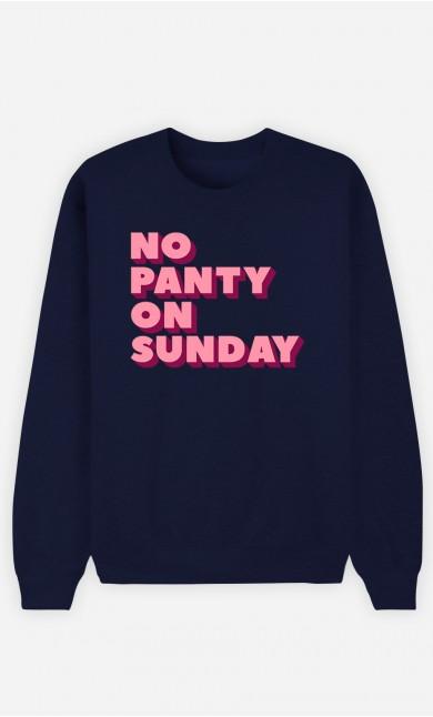 Blue Sweatshirt No Panty on Sunday