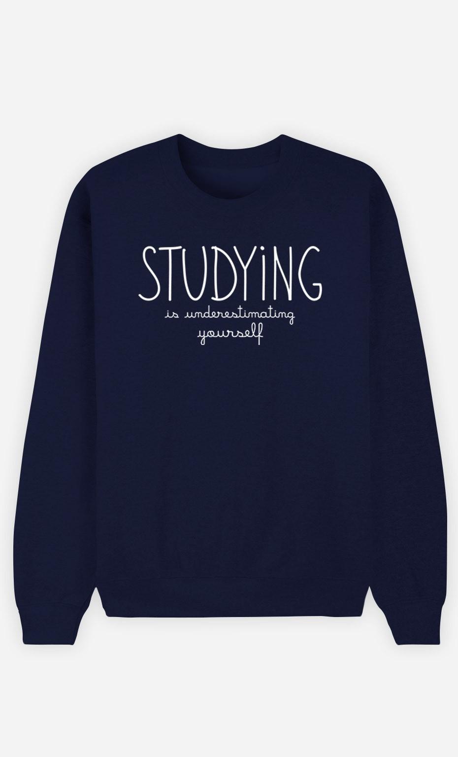 Blue Sweatshirt Studying is Underestimating Yourself