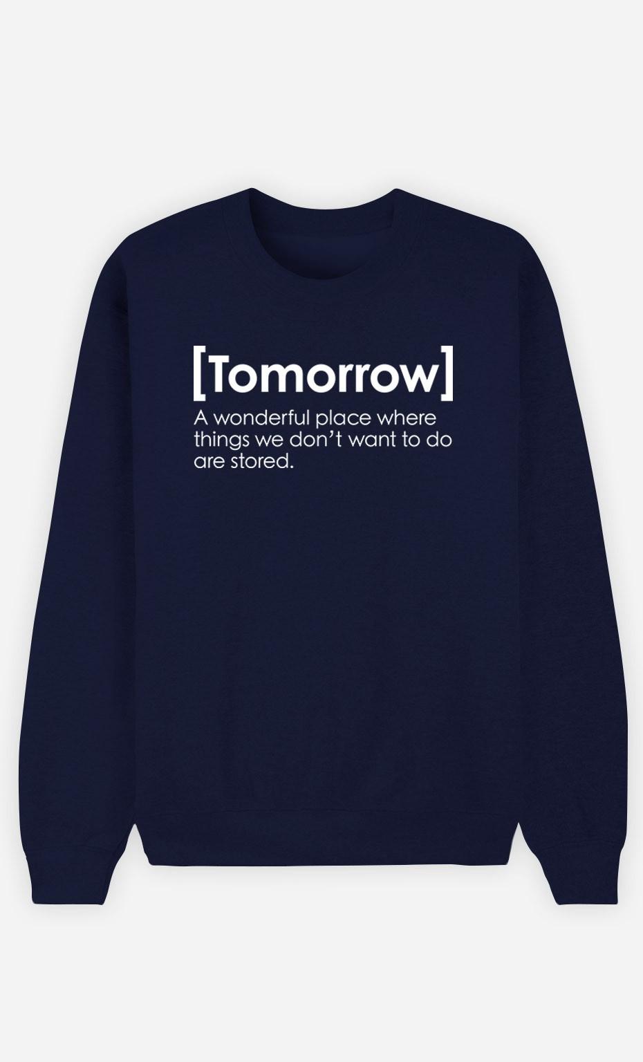 Blue Sweatshirt Tomorrow Definition