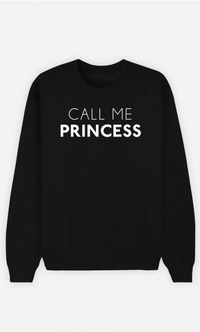 Black Sweatshirt Call Me Princess