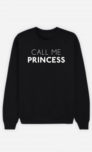 Black Sweatshirt Call Me Princess