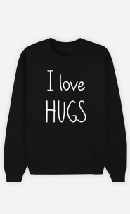 Black Sweatshirt I love hugs