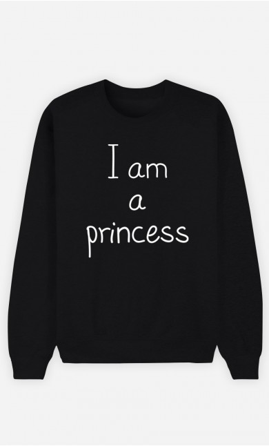 Black Sweatshirt I'm a Princess