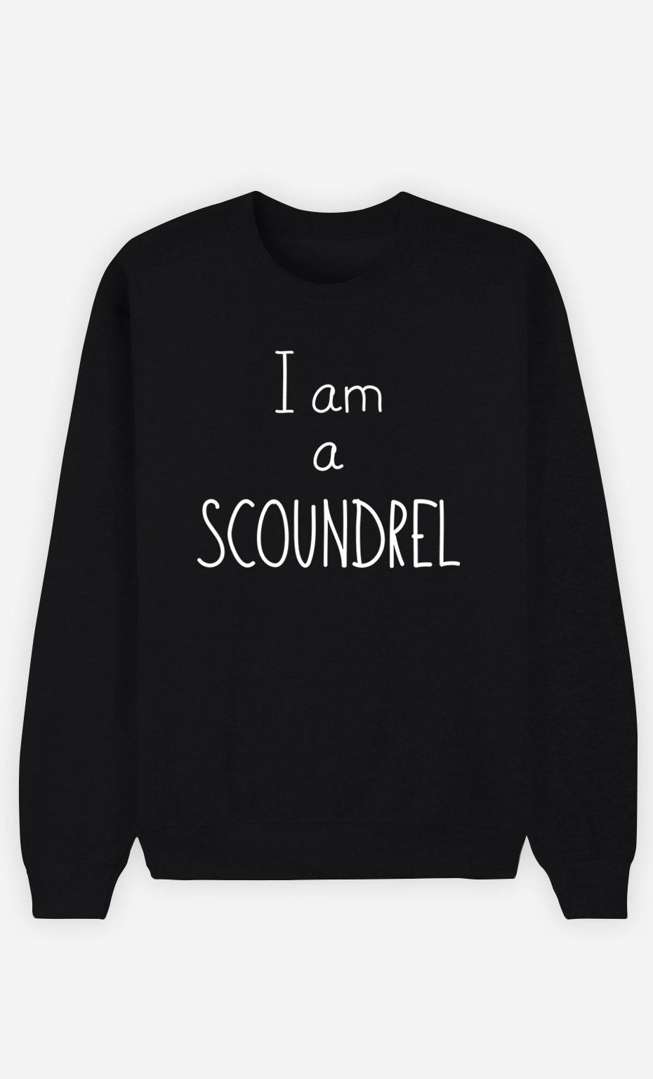 Black Sweatshirt I'm a Scoundrel