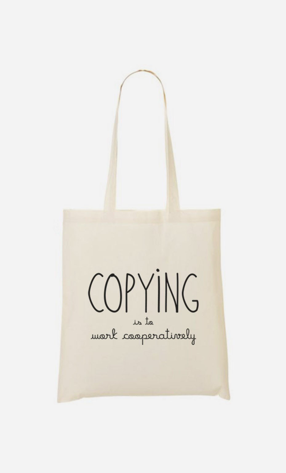 Tote Bag Copying is to Work Cooperatively
