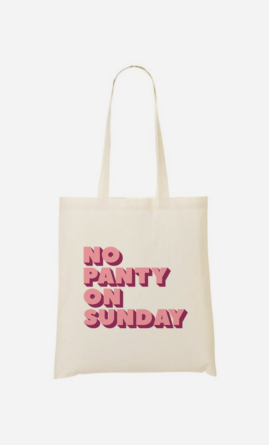 Tote Bag No Panty on Sunday