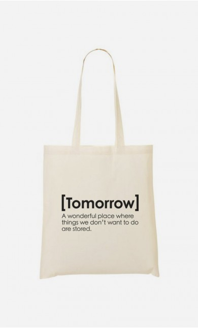 Tote Bag Tomorrow Definition