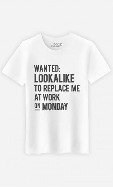 T-Shirt Wanted Lookalike