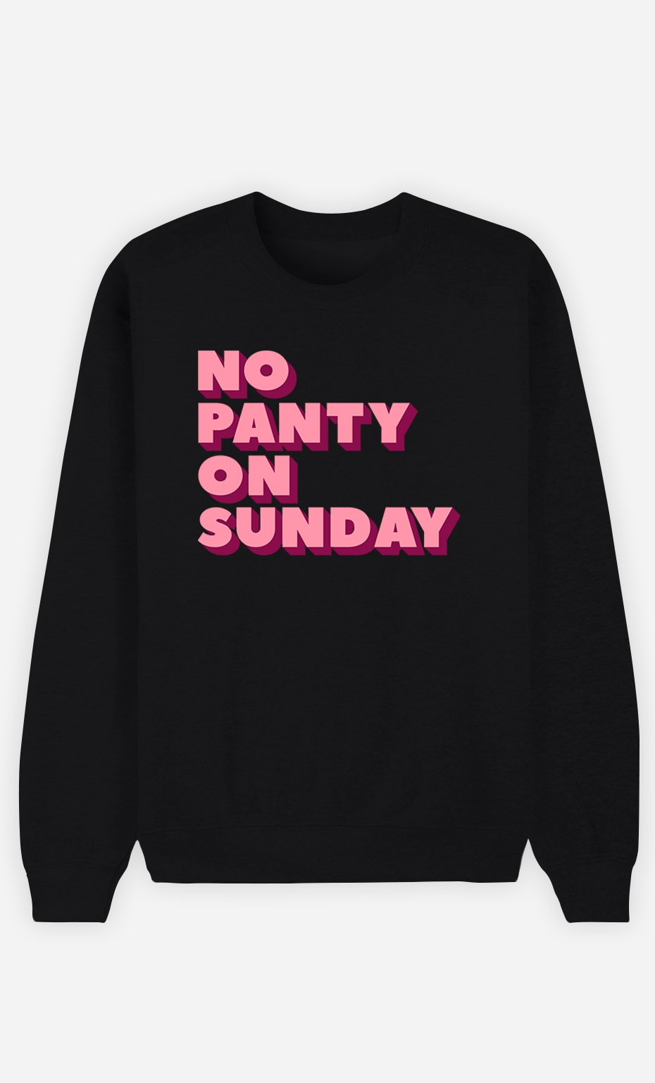 Black Sweatshirt No Panty on Sunday