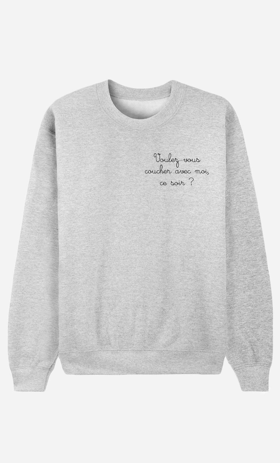 Sweatshirt Voulez-Vous Coucher Avec Moi - embroidered