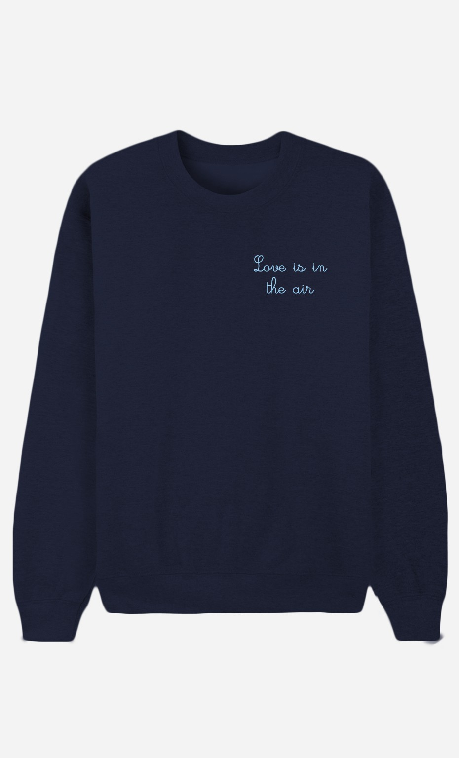 Blue Sweatshirt Love is in The Air - embroidered